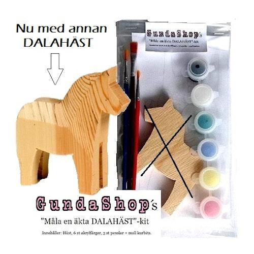 Måla en äkta dalahäst-kit