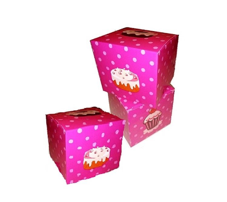 3 st rosa muffins-/cupcake-askar