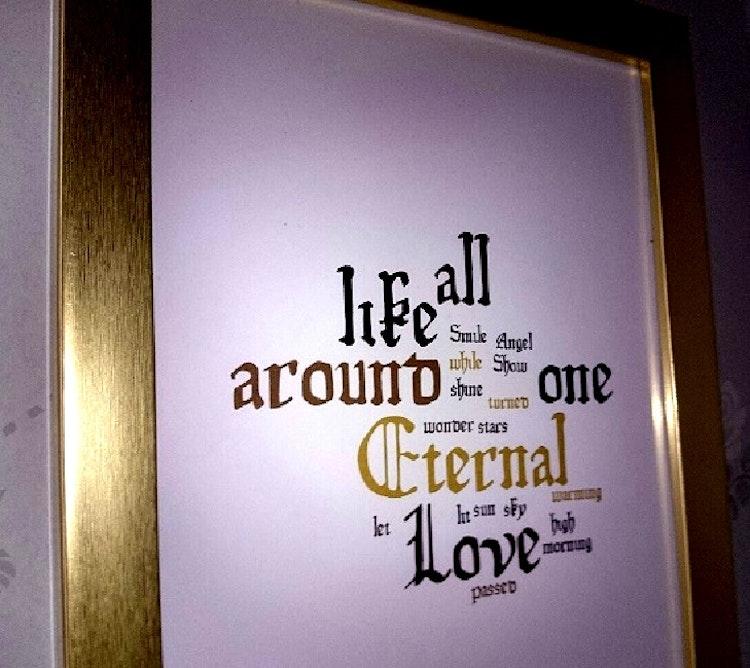 "Inramad låttext ""Eternal Love"""