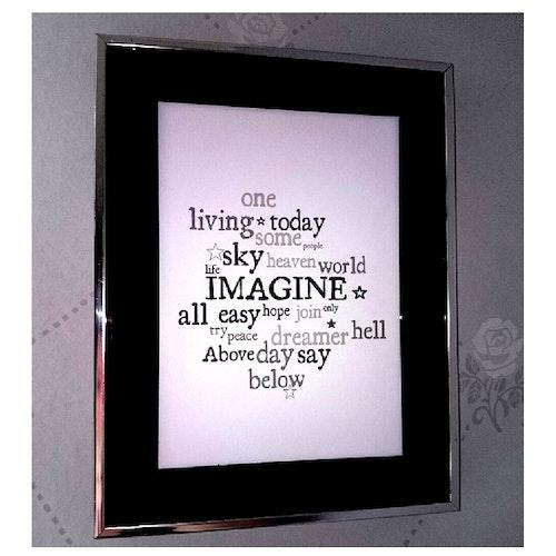 "Tavla låttext ""Imagine"""