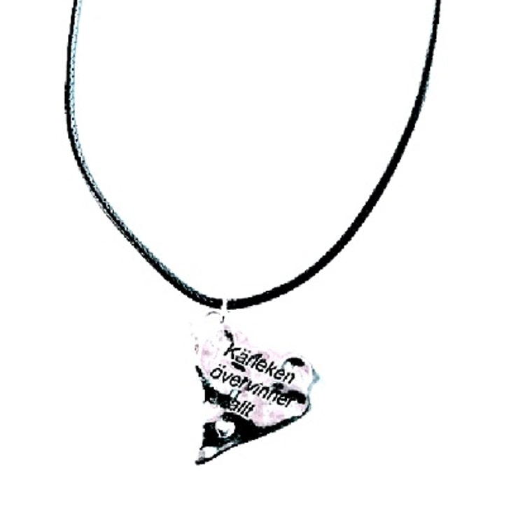 """Halsband """"Kärleken övervinner allt"""", rem"""