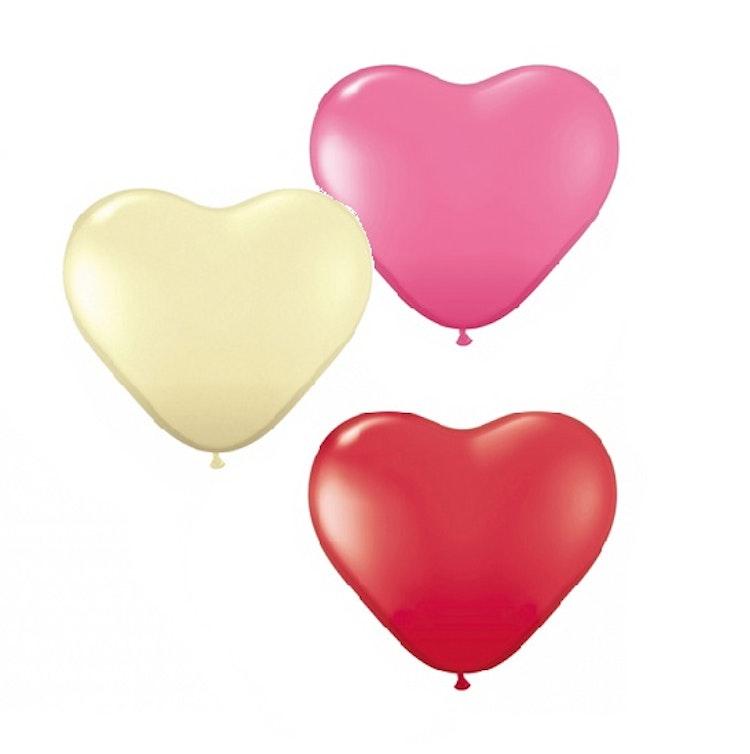 5-pack Hjärteballonger
