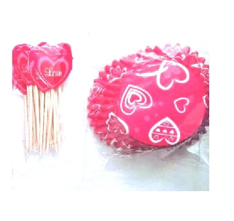 Formar cupcake + pinnar /dekoration
