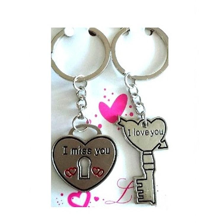 """Nyckelring 2-pack/par """"Kärlek"""""""