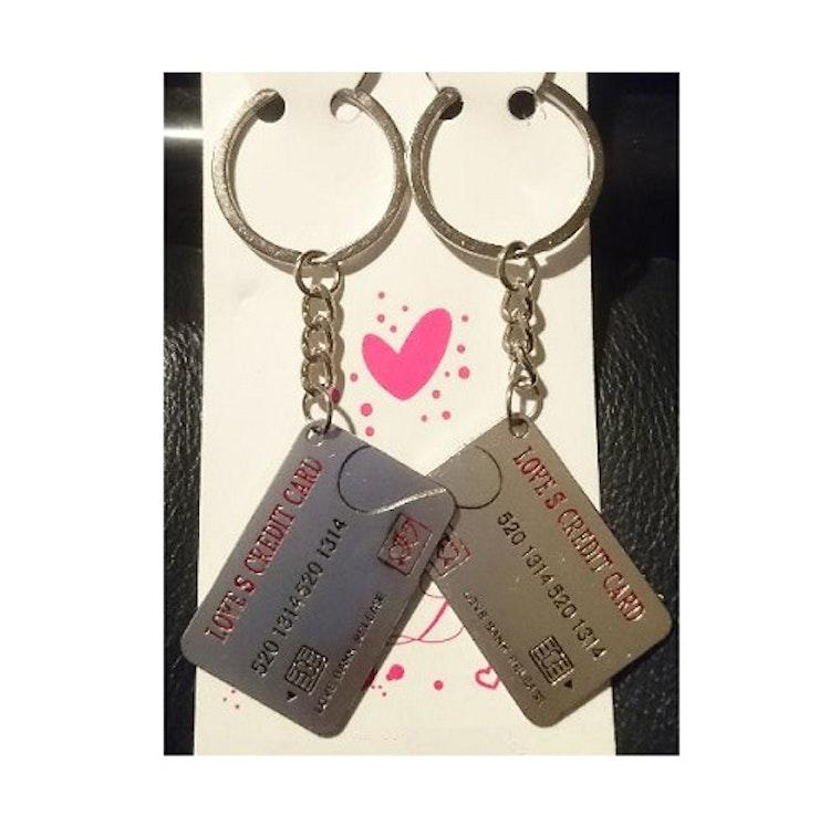 """Nyckelring 2-pack/par """"Kreditkort"""""""