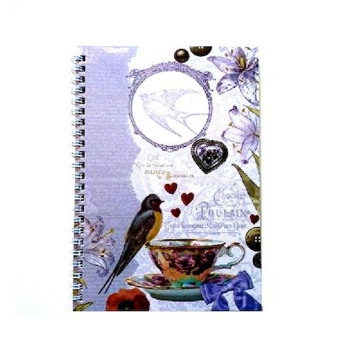 Vacker Skrivbok, romantiskt motiv