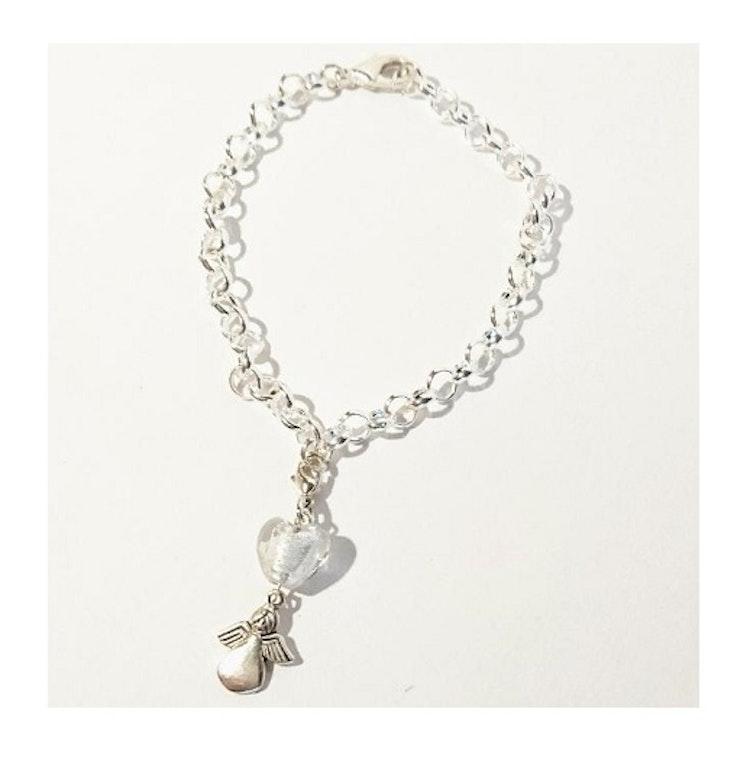 Armband, Hjärta + Ängel