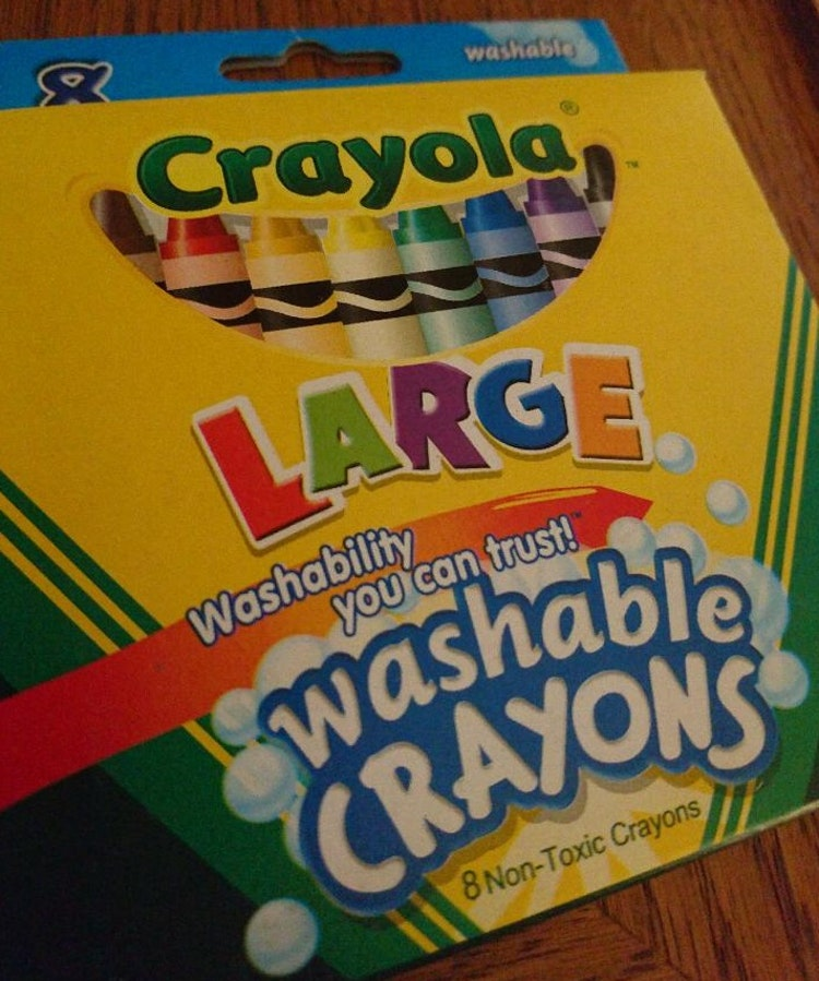 Stora färgkritor, giftfria/tvättbara