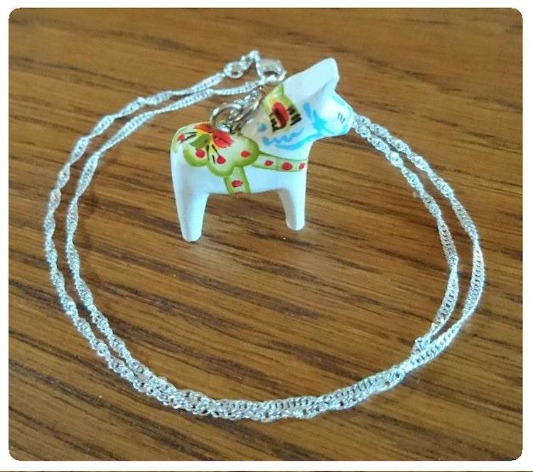 Dalahäst-halsband - minihäst