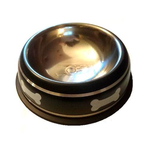 Halkfri mat-/vattenskål till hund