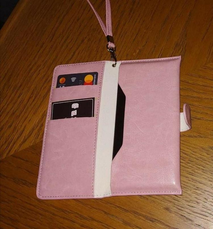 Svart mobilplånbok