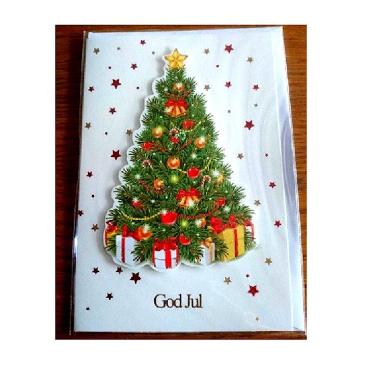 """Julkort med kuvert """"Julgran"""""""