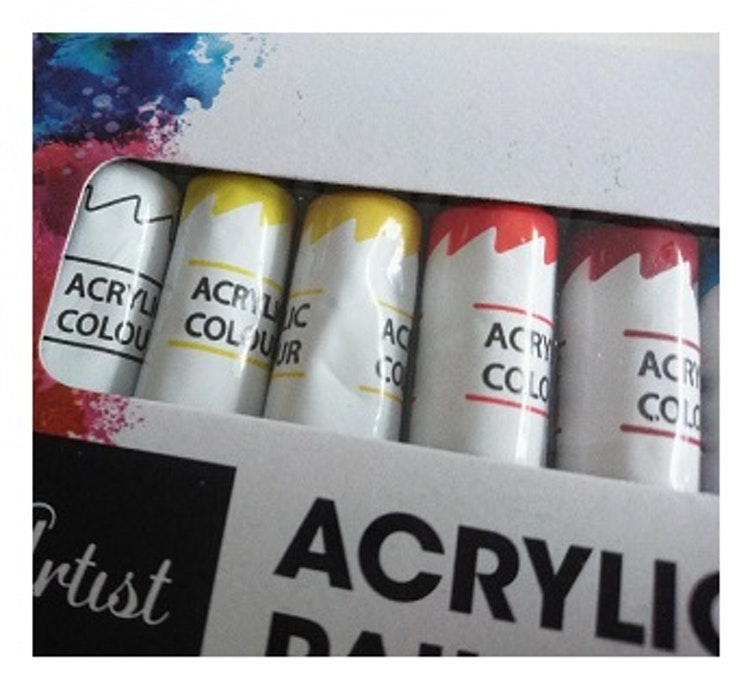 Akrylfärger 12 st