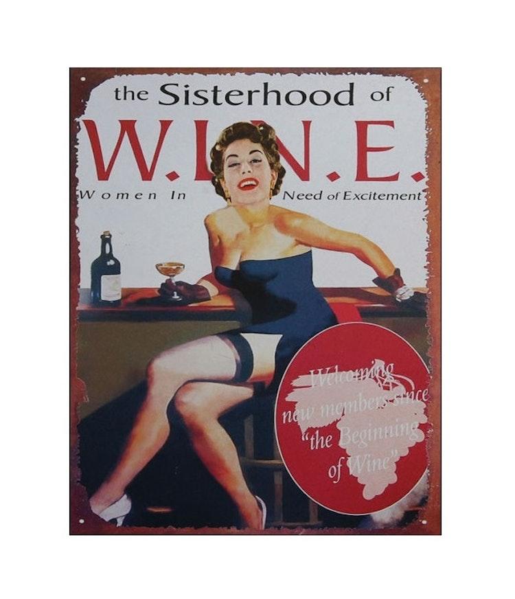PLÅTTAVLA - Sisterhood of W.I.N.E