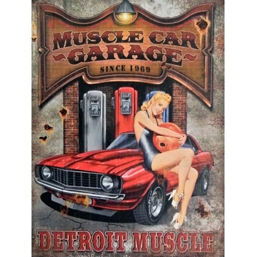 PLÅTTAVLA - Muscle Car