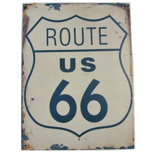 PLÅTTAVLA - Route 66