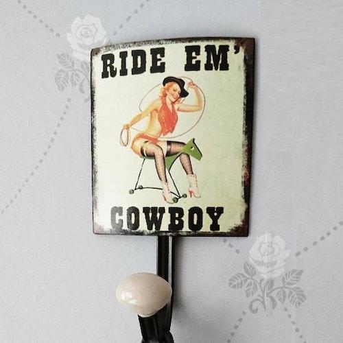 Hängare plåt/retro, Cowboy