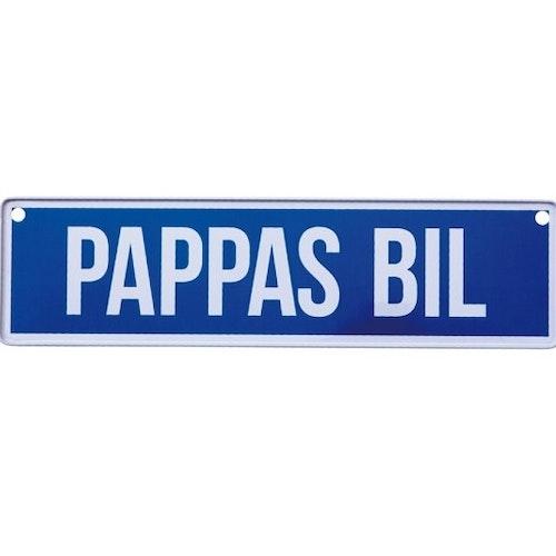 """Skylt """"Pappas Bil"""""""