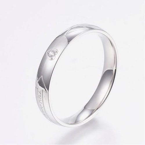 "Ring ""You are my love "" Cubik zirconia"