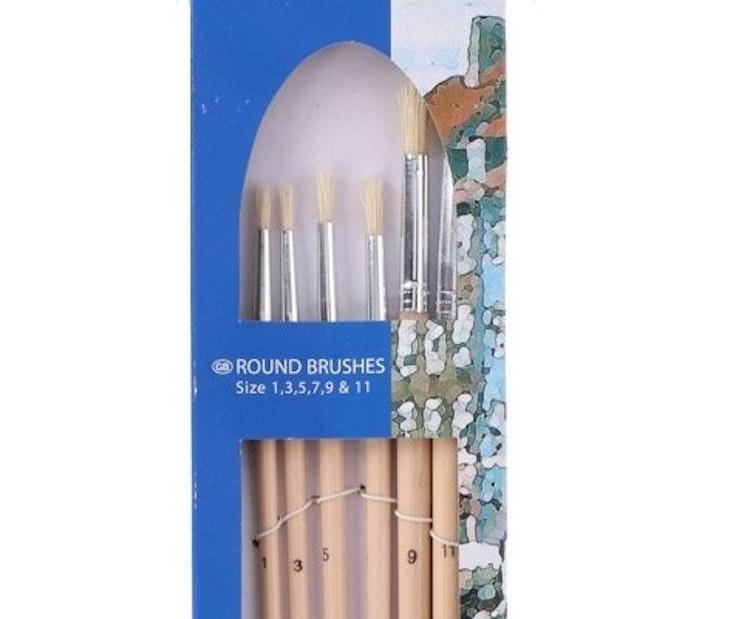 Penselset 6-pack Akryl/Olja
