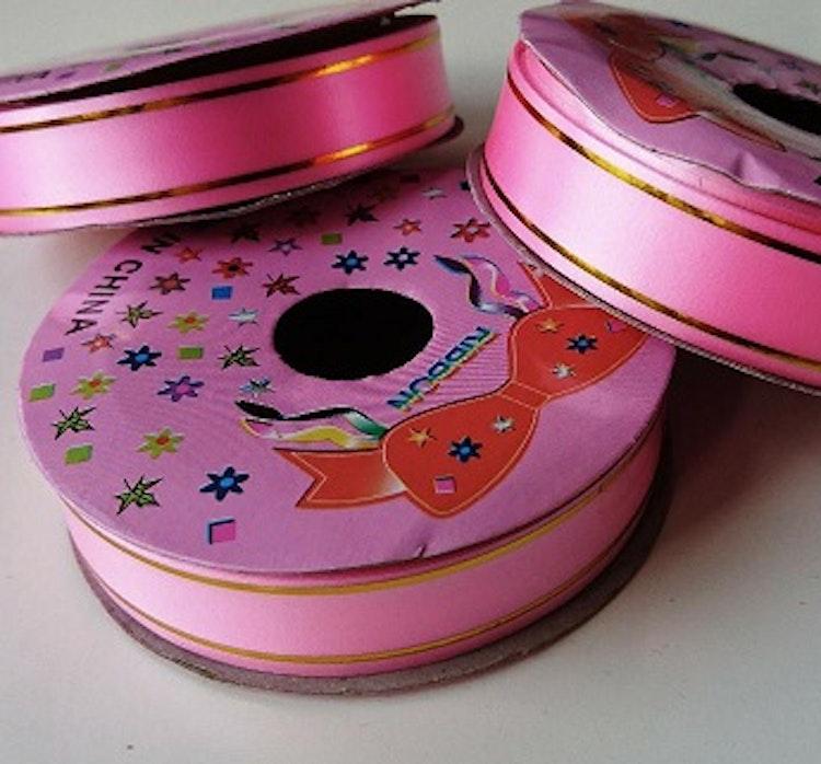 Band, rosa/guld