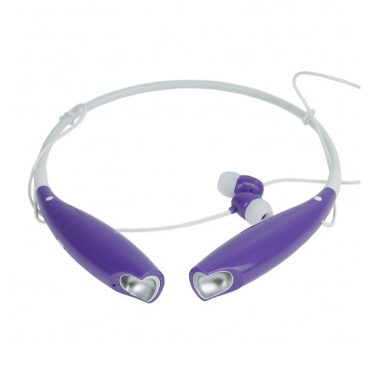 Stereo headset/bluetooth, Lila/Vit