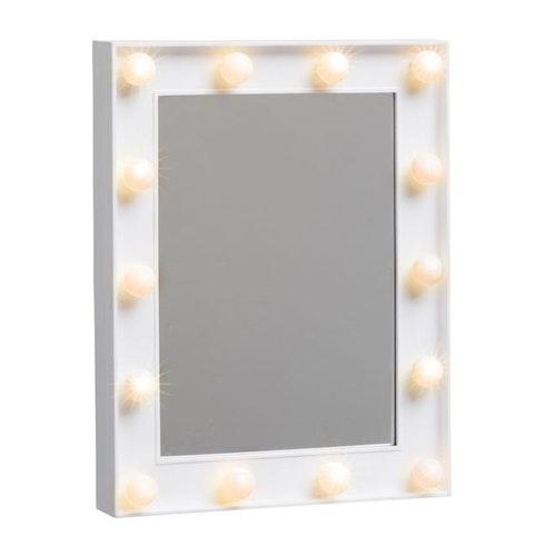 Make-up spegel m belysning