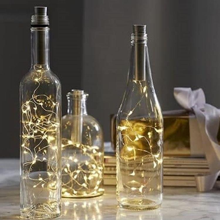 Flaskslinga / led-belysning flaska
