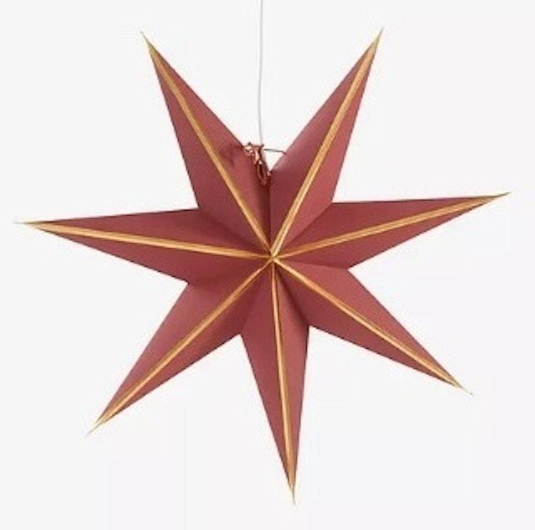 Adventsstjärna Vinröd/Guld, 60 cm