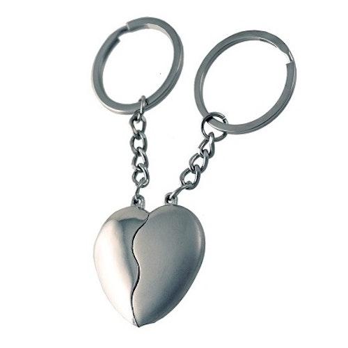 """Nyckelring 2-pack/par """"Pussel-hjärta"""""""
