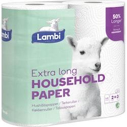 Hushållspapper extra lång 2-p