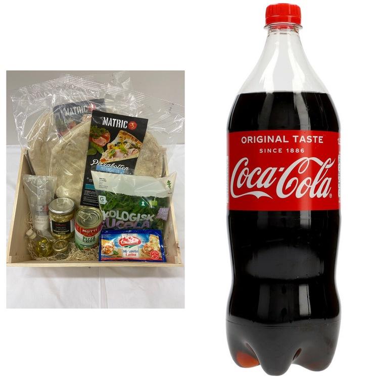 Italiensk Mozzarella & Tryffelsalami 4-6 pers + GRATIS 1 1/2L Coca-Cola.