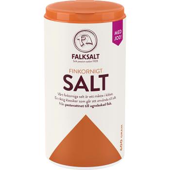 Salt Finkornigt med Jod 600g Falksalt