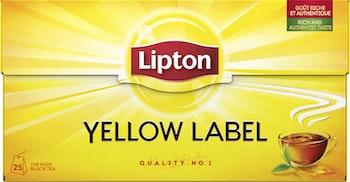 Lipton Yellow svart te 25-p