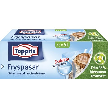 Fryspåsar 6l 25-p Toppits