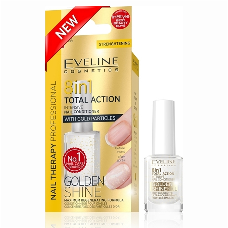 Nail Therapy 8in1 Nail Conditioner Golden Shine