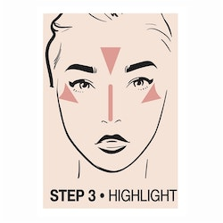 Creamy Contouring Stick Step 3 Highlight
