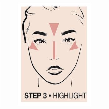 Creamy Contouring Stick Step 3 Highlight