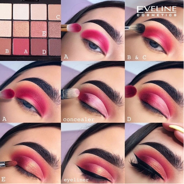 Eyeshadow Palette All In One 12 Colors Burn