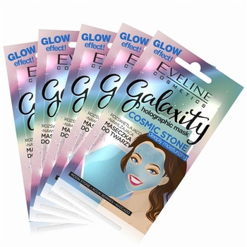 5st*10ml Galaxity Holographic Face Mask Deeply Moisturizing