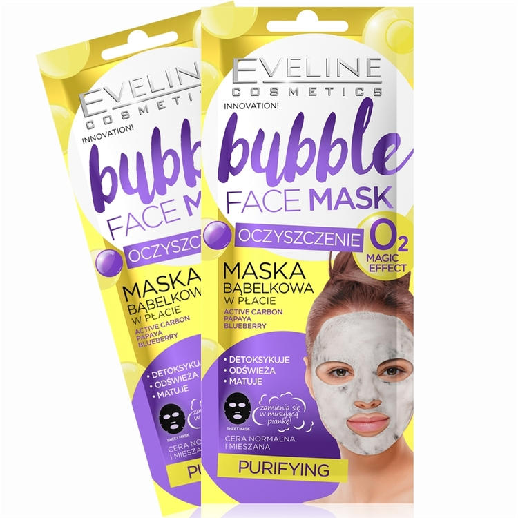 2st. Bubble Sheet Mask Purifying Active Carbon
