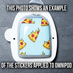 Stickers Omnipod - Spongebob