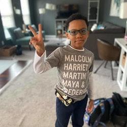 SPIbelt magväska Kids - Stars Camo Teal Zipper