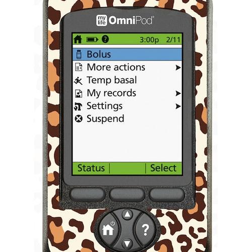 Omnipod PDM Sticker - Leopard