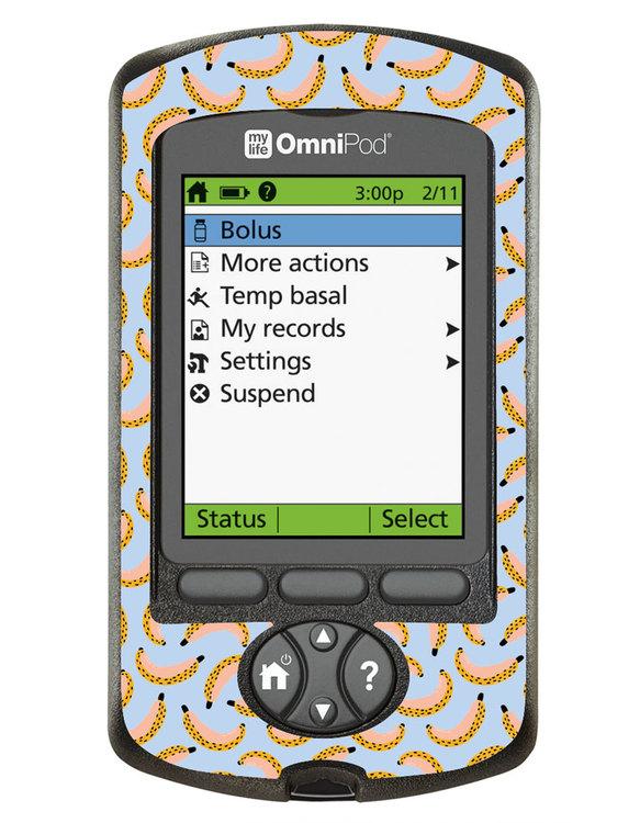 Omnipod PDM Sticker - Let´s go Bananas