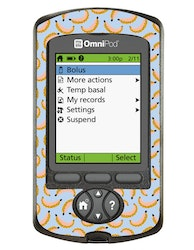Omnipod PDM Sticker - Let´s go Bananas