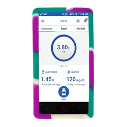 Omnipod Dash Silikonskal Purple Green