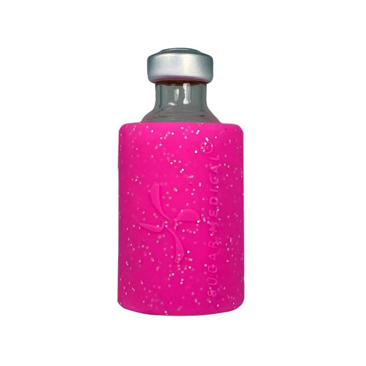 Insulin Vial Protective Silicone Sleeve Glitter Pink