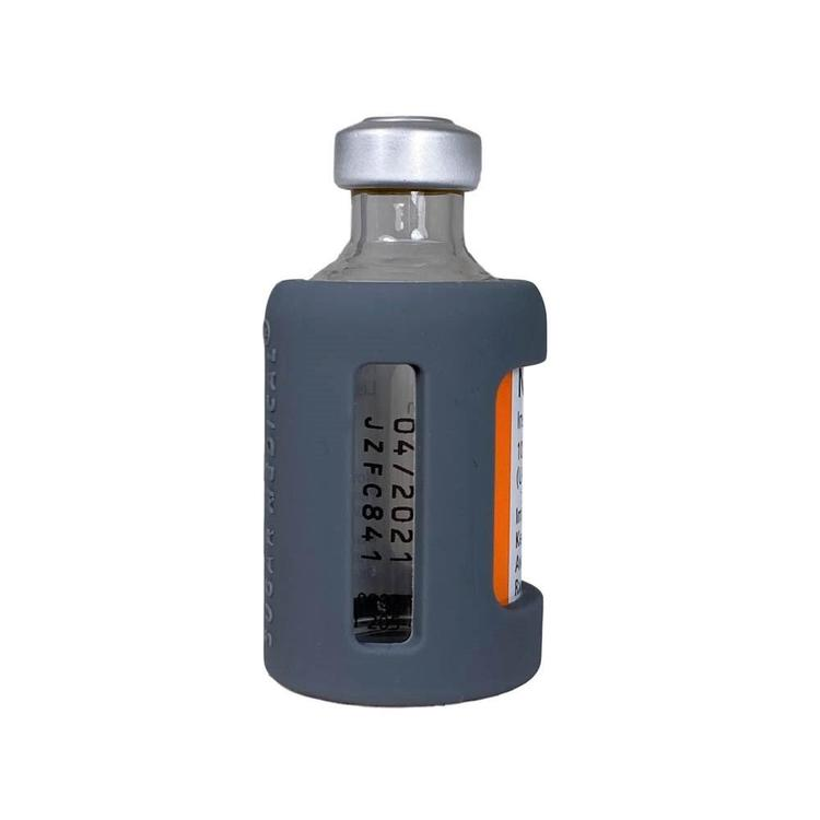 Insulin Vial Protective Silicone Sleeve Grey