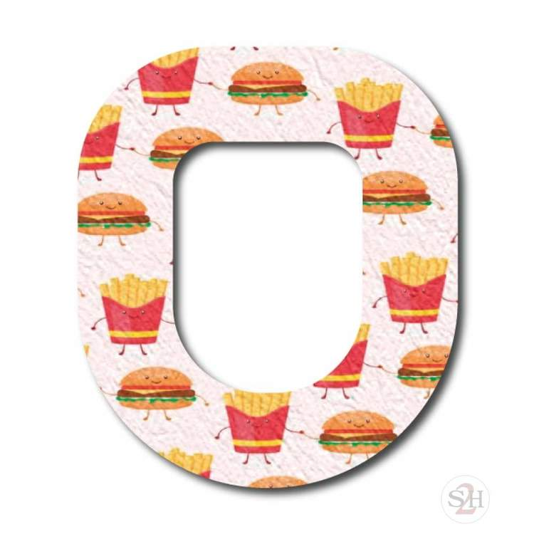 OverLay Patch Omnipod  - Burgers n' Fries